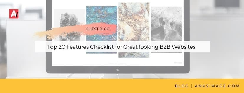 Top 20 Features Checklist for Great looking B2B Websites anksimage
